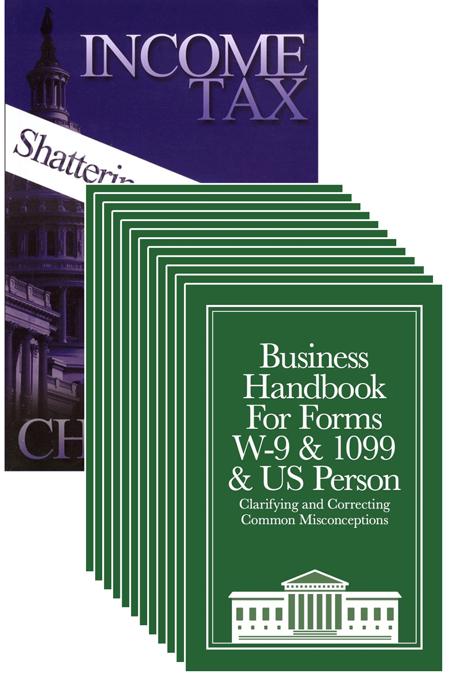 12-pack Business W-9 Handbook with Income Tax: Shattering the Myths