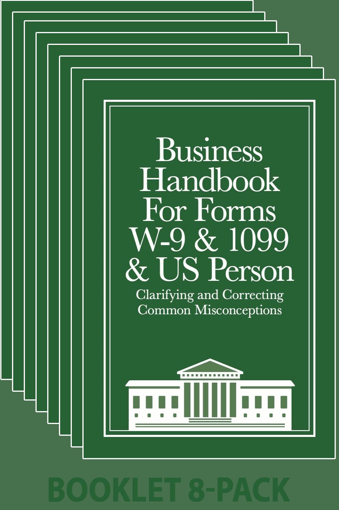 Business W-9 Handbook 8-pack